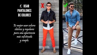 ERRORS OF MEN IN DRESSING AND TIPS FOR CORRECTING THEM/ERRORES DE LOS HOMBRES AL VESTIR 2019