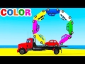 Download Video LEARN COLORS W Truck In Cars Cartoon For Children Learn Numbers & Spiderman Learning Video