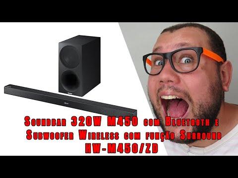 Soundbar 320W M450 com Bluetooth e Subwoofer Wireless com função Surround HW M450:ZD