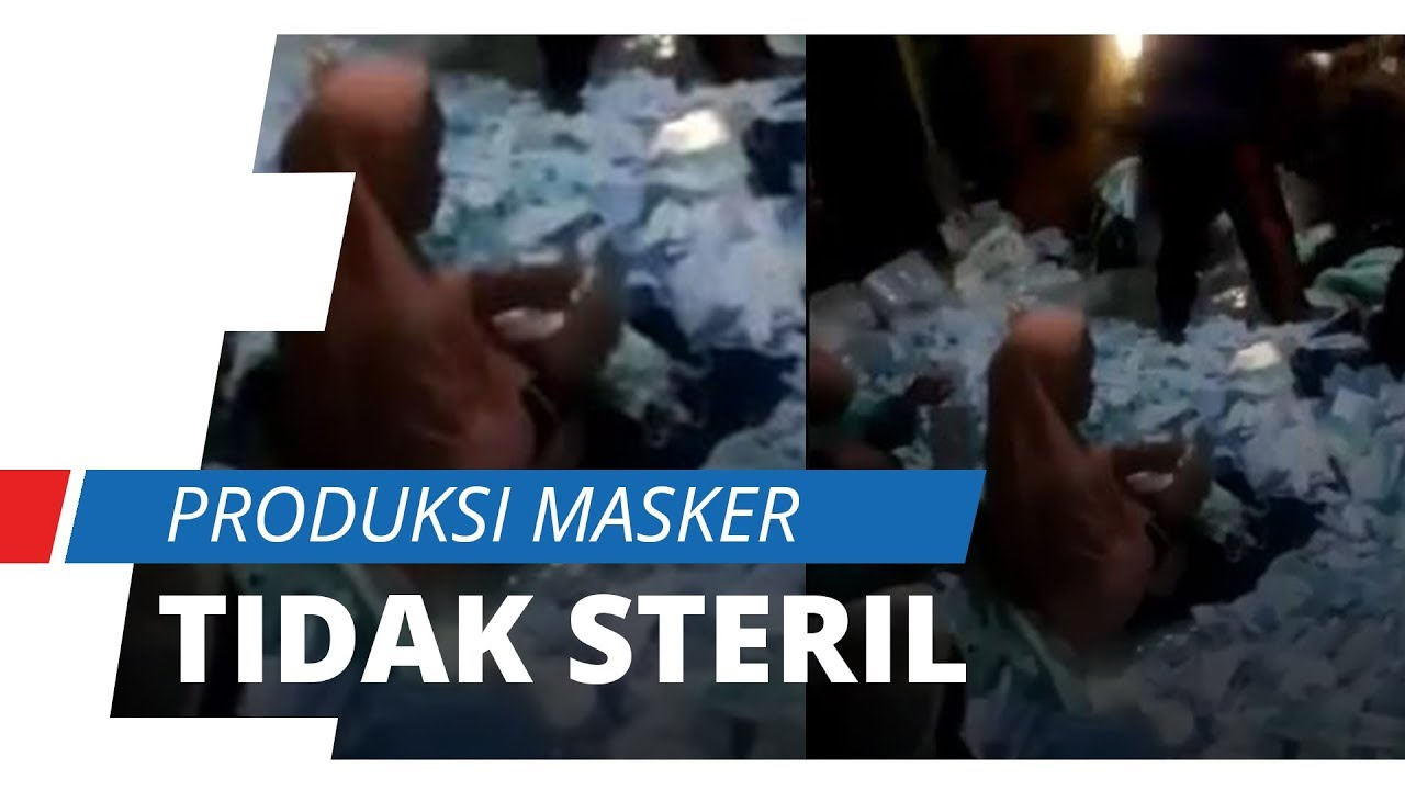 Viral Video Packing Masker Merek Solida Diinjak Injak Dan
