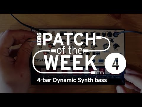 volca modular Patch of the Week 4: 4-bar Dynamic Synth bass