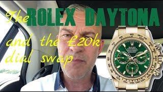 The Green Dial 18ct Gold Rolex Daytona 116508 Scam - Beware!
