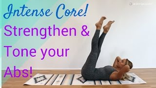 Intense Pilates Class for Inner Core Strength - Workout at home