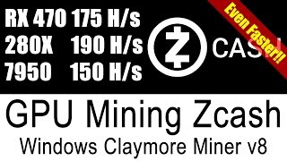 Claymore Zcash Miner V8 - Even Faster AMD GPU Miner for Windows