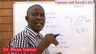 Vapor pressure and Raoult's Law By Dr Bbosa Science