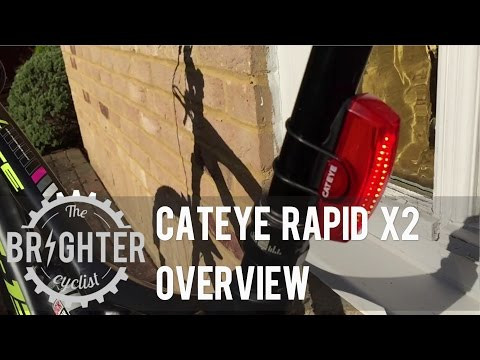 Cateye Rapid X2 Rear Commuter Bikelight Overview