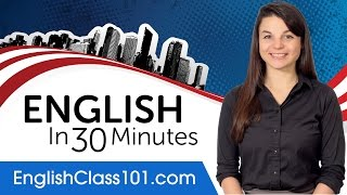 Learn English In 30 Minutes   ALL The English Basics You Need