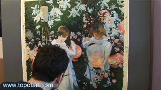 Art Reproduction (John Singer Sargent - Carnation, Lily, Lily, Rose) Hand-Painted Step by Step