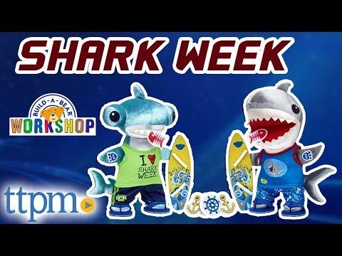 Build-A-Bear Shark Week Great White and Hammerhead Sharks