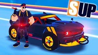 БЕШЕНЫЕ ГОНКИ! Новое видео для детей про машинки Онлайн Игра SUP Multiplayer Racing