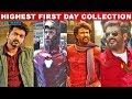 Top 10 Tamil Movies Highest First Day Box Office Collection | Wetalkiess