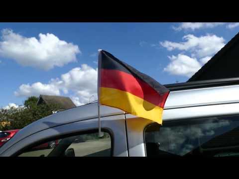 Autoflagge Autofahne Deutschland - FlaggenPlatz DE | MaxFlags