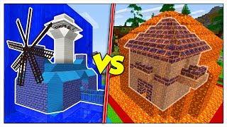 BASE SEGRETA NELLA LAVA CONTRO BASE NELL'ACQUA! - Minecraft ITA