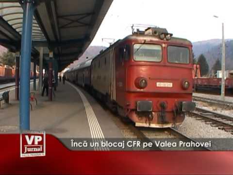 Încă un blocaj CFR pe Valea Prahovei