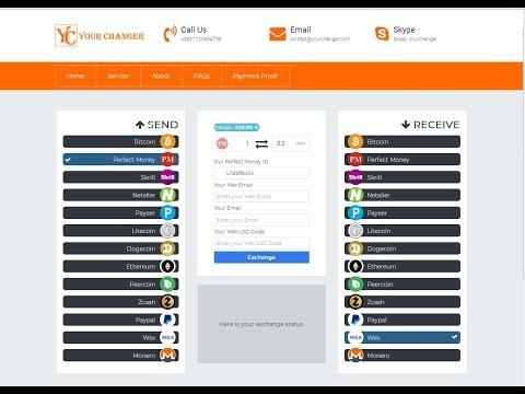 How to Exchange  Perfectmoney =  WEX  USD  , Bitcoin , Peercoin , Litecoin ,Zcash , Monero XMR .