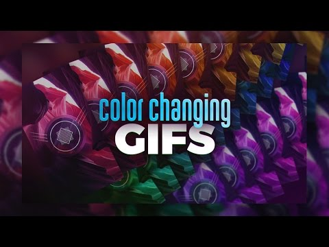 How to Make Color Changing GIFs in Photoshop