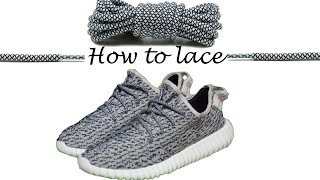 Ways to lace Yeezy boost 350