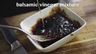 Tagliata di manzo con Balsamic Vinegar Sauce