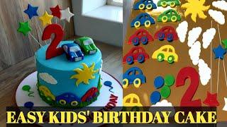 EASY KIDS BIRTHDAY CAKE THAT ANYBODY CAN MAKE(Cakes Tutorial)