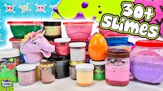 Mixing HUGE Slime Smoothie! 30+ Satisfying Slimes!