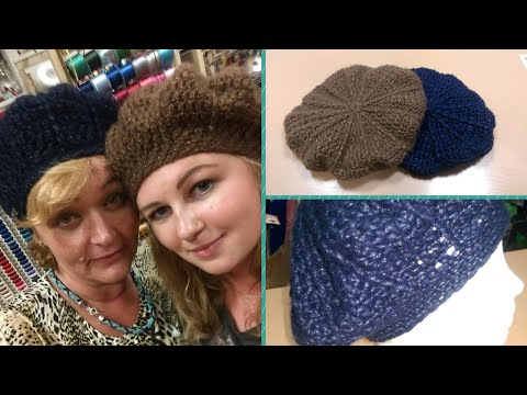 Basco semplice all'uncinetto - double face. Tutorial. How to crochet a beret