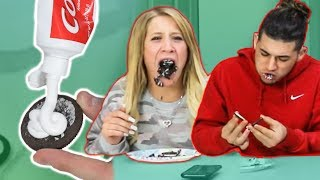 TOOTHPASTE IN OREO PRANK *HILARIOUS REACTIONS*