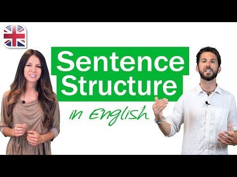 English Sentence Structure - English Grammar Lesson