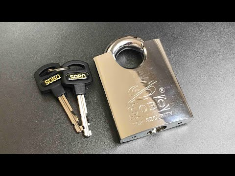 [539] Sobo SPRS60 Disc Detainer Padlock Picked