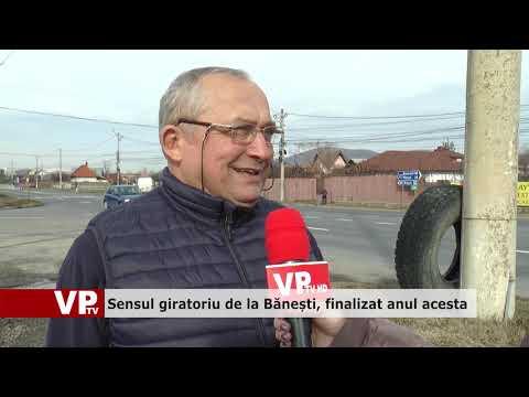 Sensul giratoriu de la Bănești, finalizat anul acesta