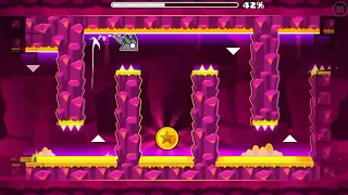 Geometry Dash - Fingerdash 100% 3 Coins (80 Attempt)