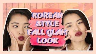 Korean Style Fall Glam Makeup | Everyday Fall Makeup