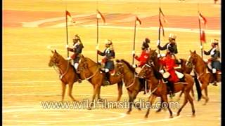 Musical ride by 61st Cavalry Regiment of the Indian Army