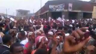 #1 Ethio Muslim Peaceful Demonstration At Anwar Mesjid Jun/7/2013