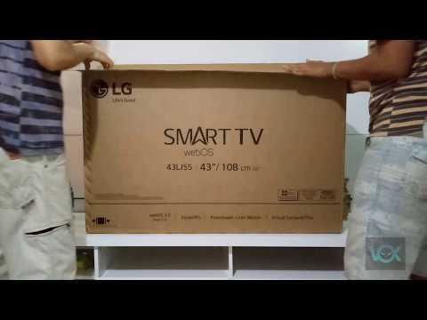 Unboxing SMART TV LG WebOS 3.5  43LJ5500  - Desembalando o Produto