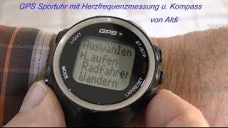 Test GPS Uhr mit Herzfrequenzmessung und Kompass von Aldi 2014, von tubehorst1