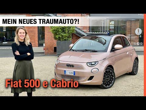 Fiat 500 e Cabrio (118 PS) 🤍 Mein neues Elektro-Traumauto für 2021?! Fahrbericht | Review | Test