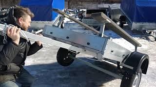 Обзор прицепа Скиф-Фермер со стапелем для перевозки лодки ПВХ