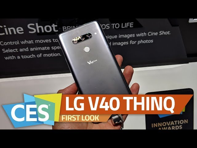 LG V40 ThinQ With Five Cameras, 6 4-Inch OLED Display