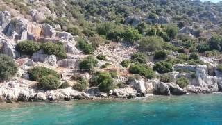 Остров Кеково, затонувший город. Турция 2016