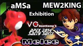 Salty Suite - aMSa (Yoshi) Vs. CT EMP | Mew2King (Pichu, Roy, Yoshi) SSBM Exhibition - Melee