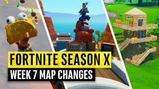 Fortnite   All Season X Map Updates And Hidden Secrets! WEEK 7