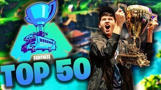 TOP 50 FORTNITE WORLD CUP MOST VIEWED CLIPS