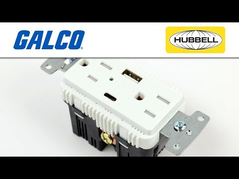 Hubbell's USB Charging Receptacles