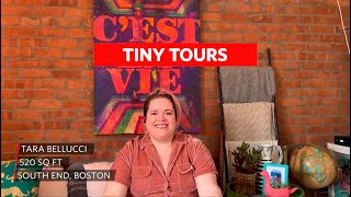 Taras 520 Sq Ft. Boston Boho Rainbow Brite Home | House Tours By Apartment Therapy