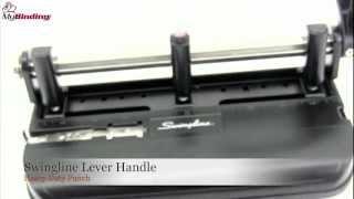 Swingline Lever Handle Heavy Duty 2 3 Hole Punch Demo