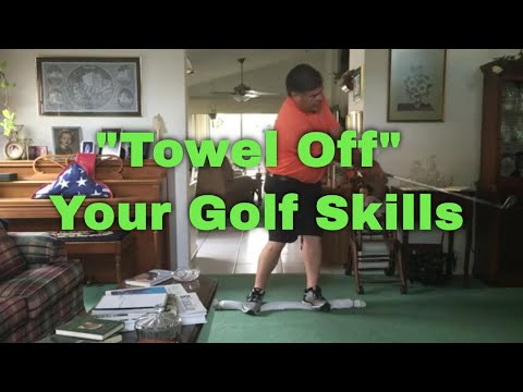 Indoor Golf Drills - Towel Balance Drill