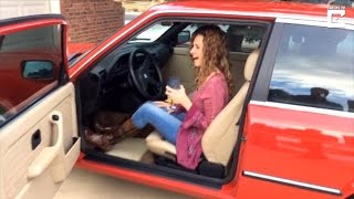 Husband Surprises Wife On 50th Birthday With Replica Of BMW She Had In College