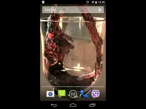 Video of Glass of Wine Video LWP