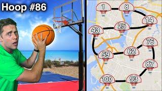 Scoring On 100 Basketball Hoops In 24 Hours!