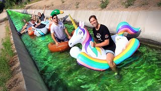 FLOATING down PUBLIC DRAINAGE SYSTEM! (Gross Lazy River)